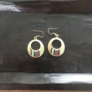 Noonday Collection Enamel Hoop Earrings